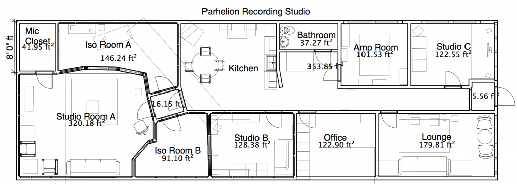 studio layout parhelion recording studio atlanta