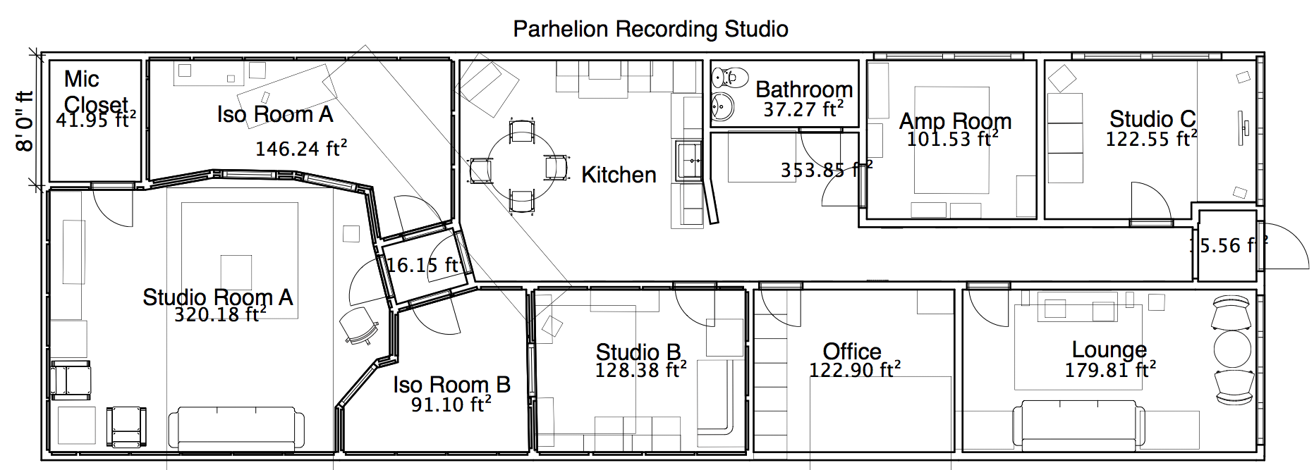 Studio layout parhelion recording studio atlanta for Studio layout plan