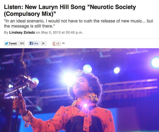 Lauren Hill new single release Pitchfork