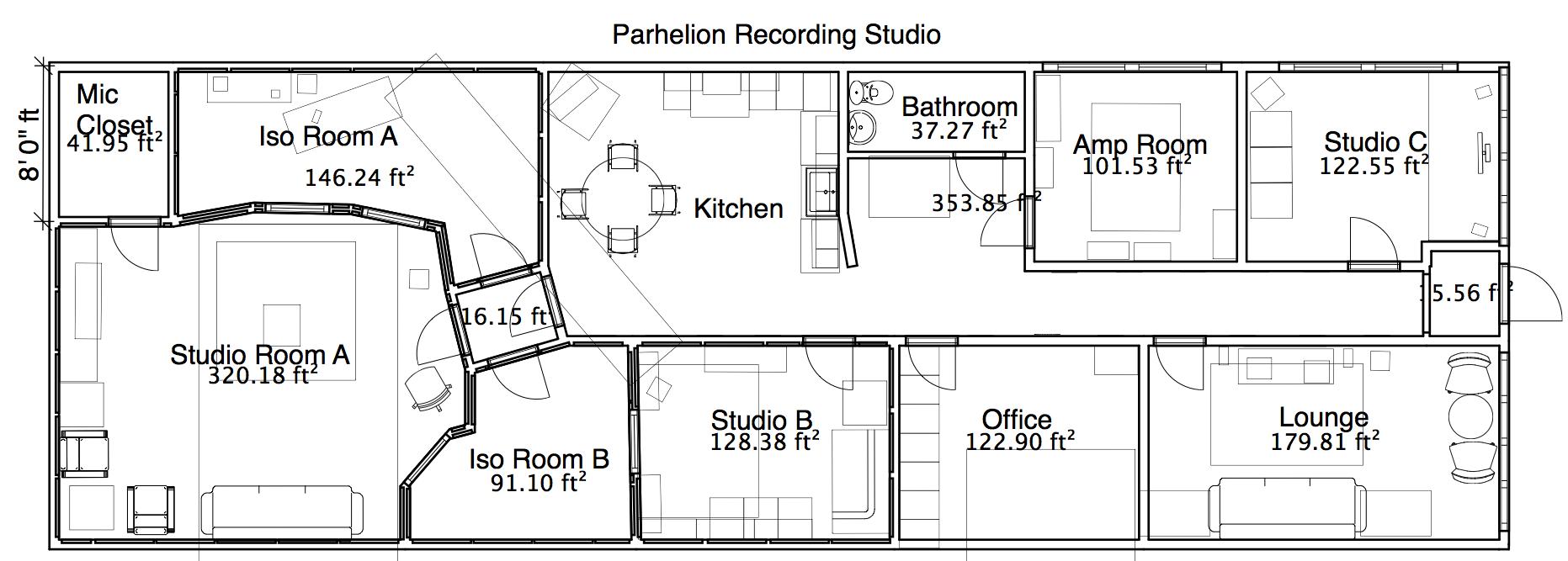 Studio Layout | Parhelion Recording Studio Atlanta
